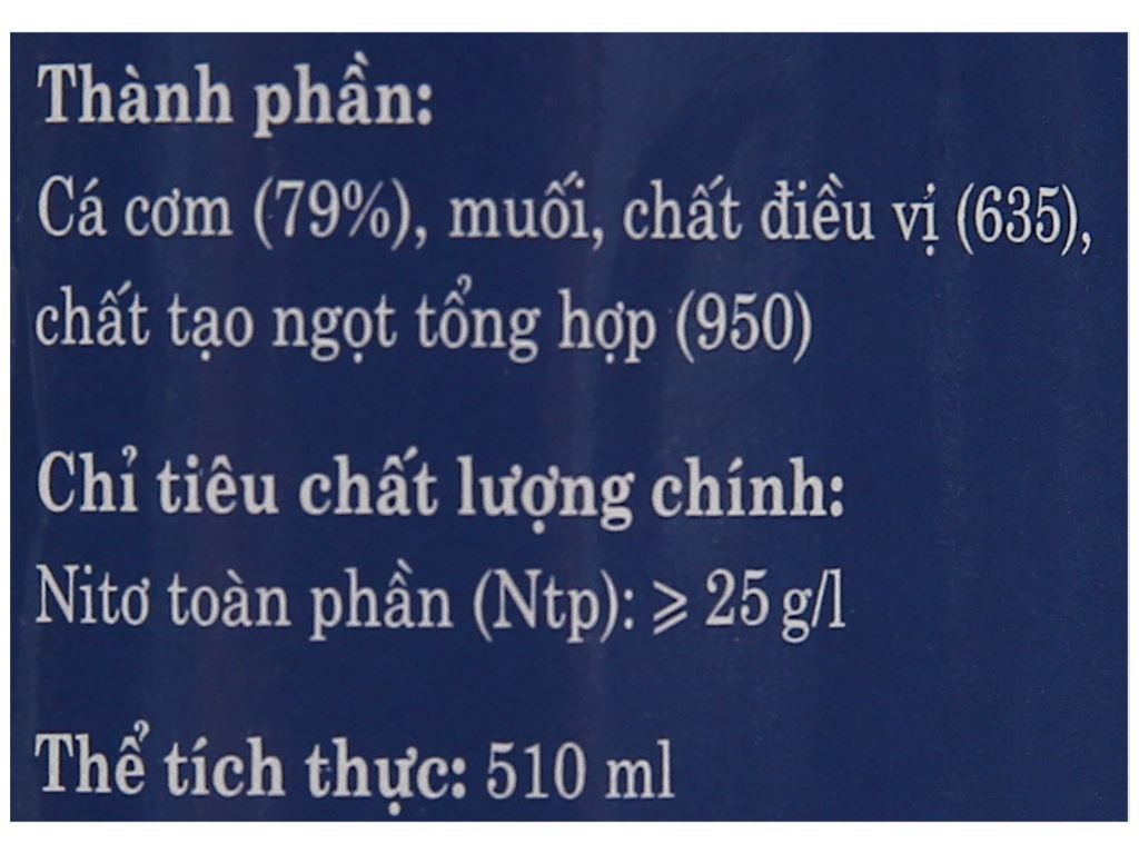 Nước mắm nhĩ cá cơm 584 Nha Trang 25 độ đạm chai 500ml 4