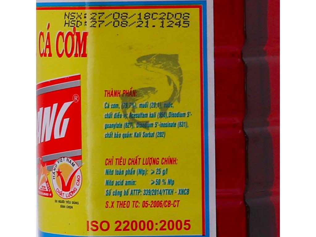 Nước mắm nhĩ cá cơm 584 Nha Trang 25 độ đạm chai 1 lít 6