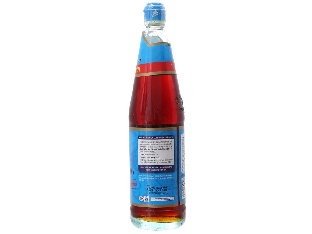Nước mắm nhĩ cá cơm Phú Quốc Thuận Phát 40 độ đạm chai 650ml 2