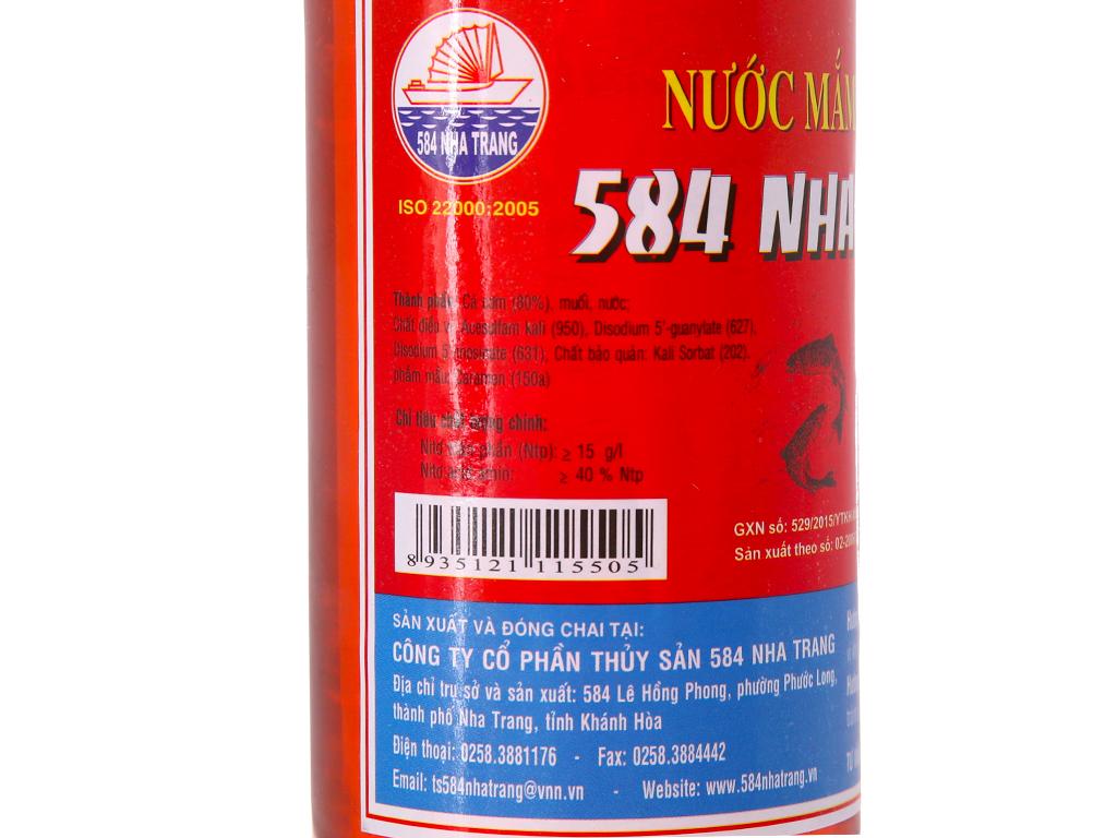 Nước mắm cá cơm 584 Nha Trang 15 độ đạm chai 500ml 5