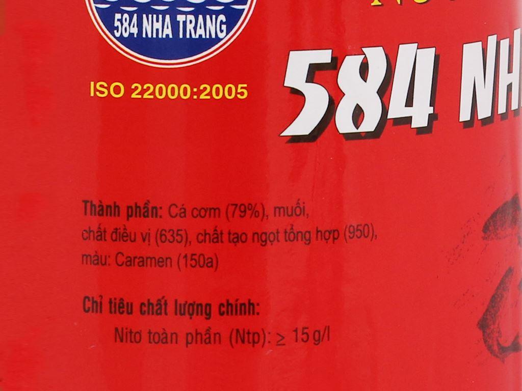 Nước mắm cá cơm 584 Nha Trang 15 độ đạm chai 500ml 3