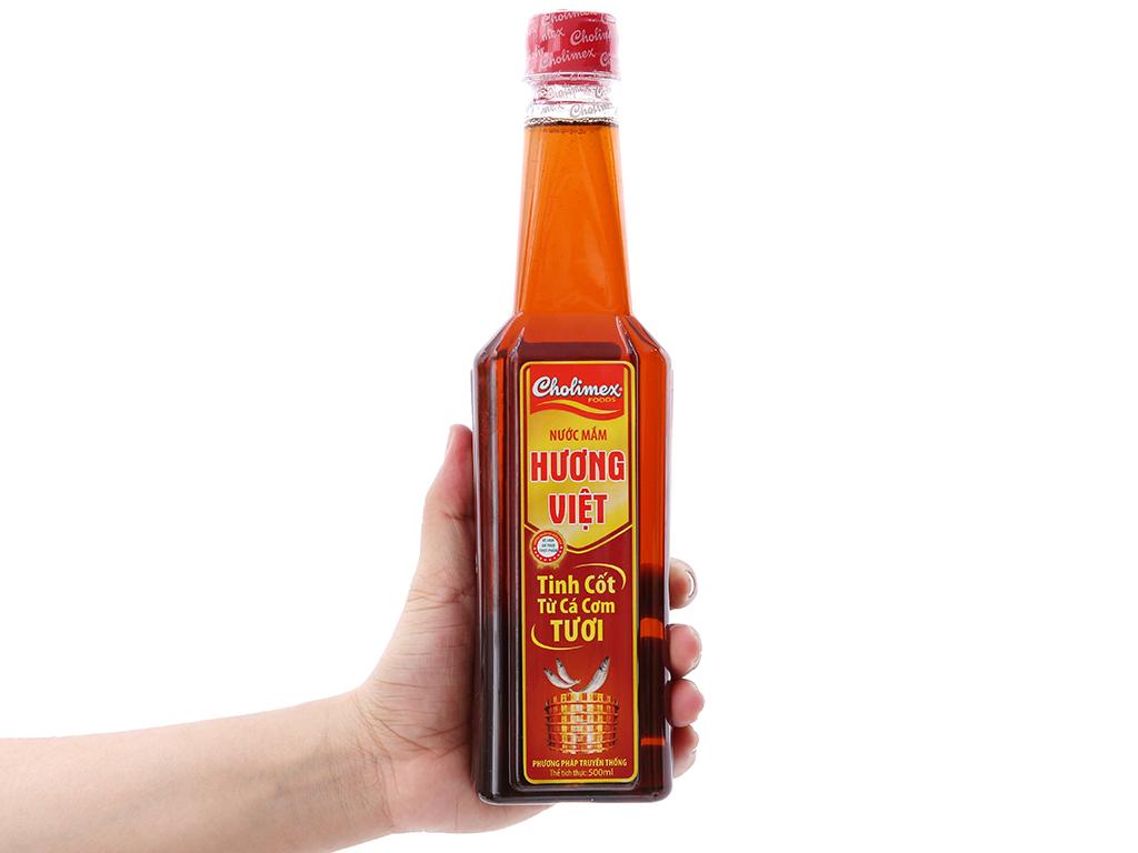 Nước mắm Hương Việt Cholimex tinh cốt từ cá cơm tươi chai 500ml (Tặng 1 chai tương ớt Cholimex 130g) 3