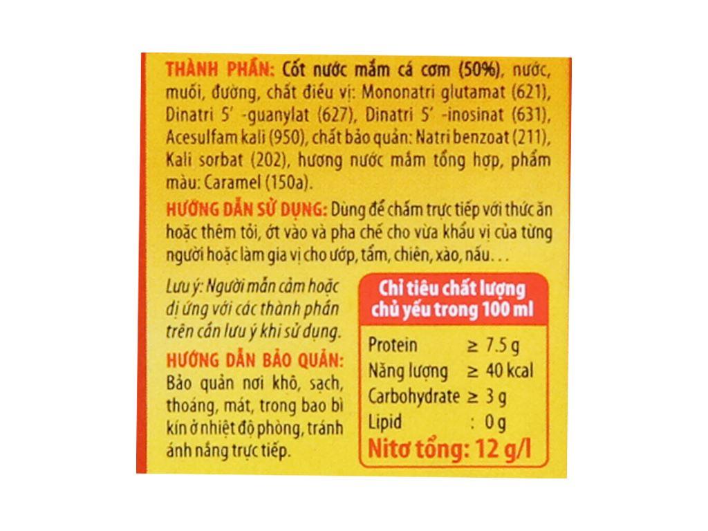 Nước mắm Hương Việt Cholimex chai 500ml 3