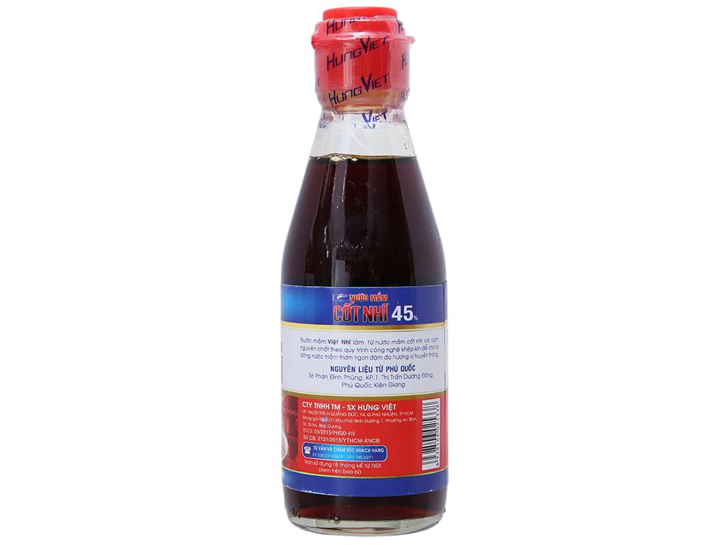Nước mắm cốt nhĩ 45% Việt Nhĩ chai 180ml 2