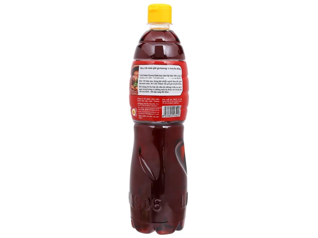 Nước mắm truyền thống Liên Thành nhãn đỏ chai 900ml 2