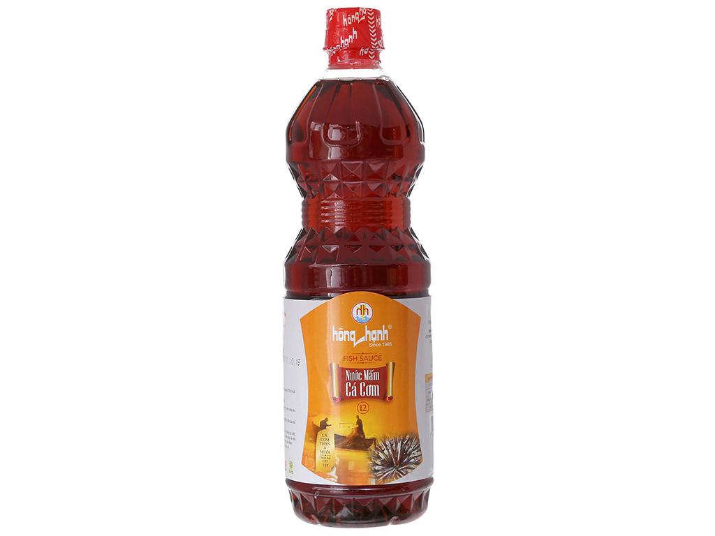 Nước mắm cá cơm Hồng Hạnh 12 độ đạm chai 1 lít 1