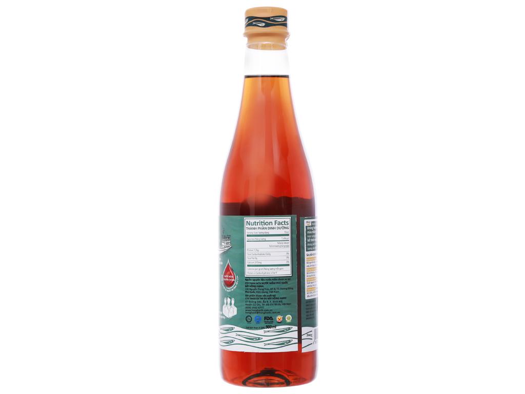 Nước mắm cá cơm Hồng Hạnh 12 độ đạm chai 900ml 8
