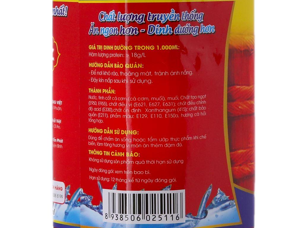 Nước chấm cá cơm Hưng Việt chai 900ml 6