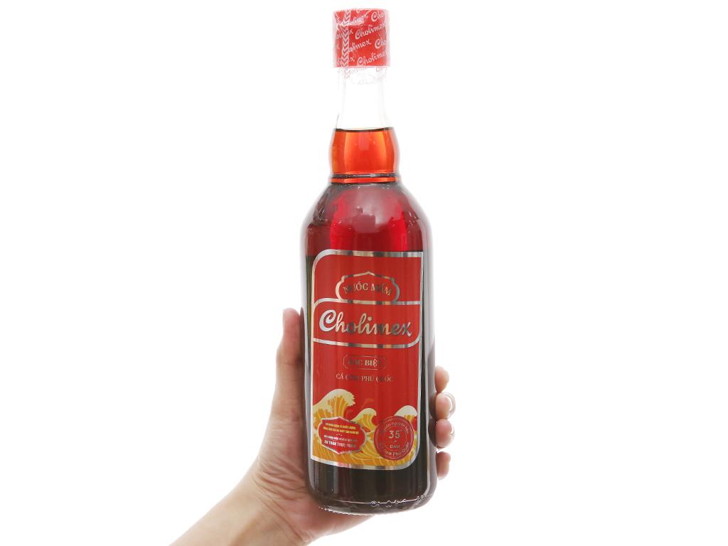 Nước mắm cá cơm Phú Quốc Cholimex loại đặc biệt 35 độ đạm chai 500ml 3