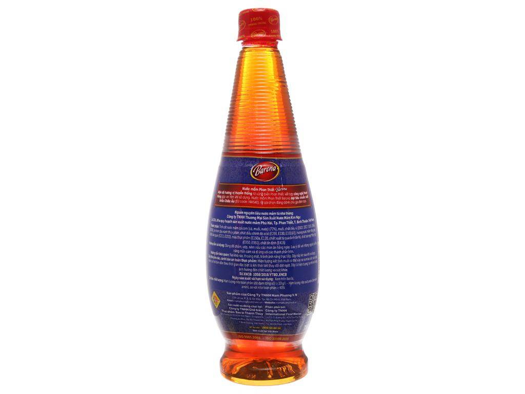 Nước mắm truyền thống Barona 100% thanh trùng chai 750ml 2