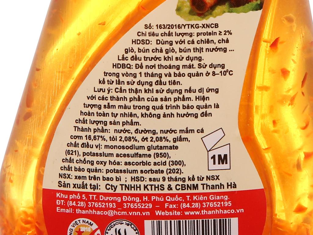 Nước mắm tỏi ớt pha sẵn Thanh Hà chai 150ml 6