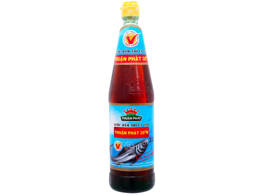 Nước mắm nhỉ cá cơm Thuận Phát 35 độ đạm chai 650ml 1