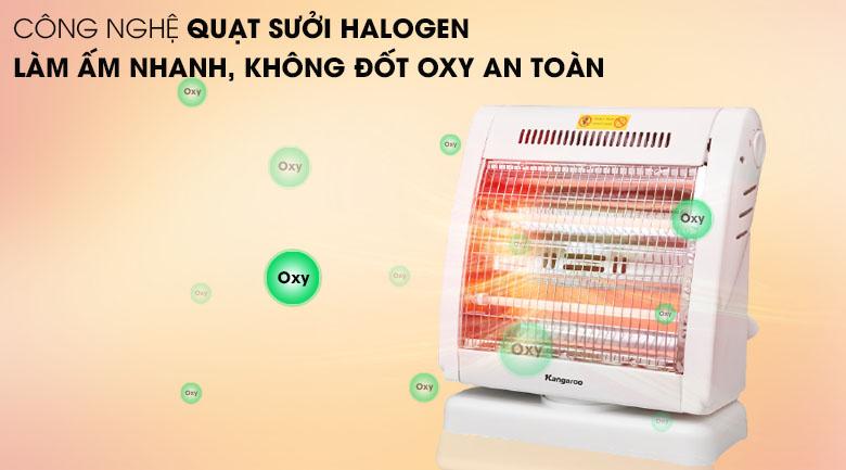 Công nghệ sưởi halogen - Đèn sưởi Kangaroo KG1018C - KG 550W