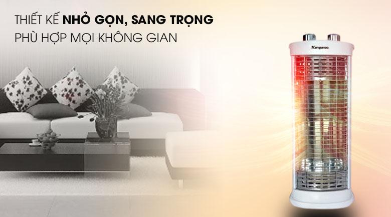 Thiết kế - Đèn sưởi Carbon Kangaroo KG1026C - KG 550W