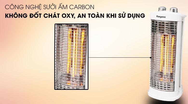 Công nghệ sưởi carbon - Đèn sưởi Carbon Kangaroo KG1026C - KG 550W