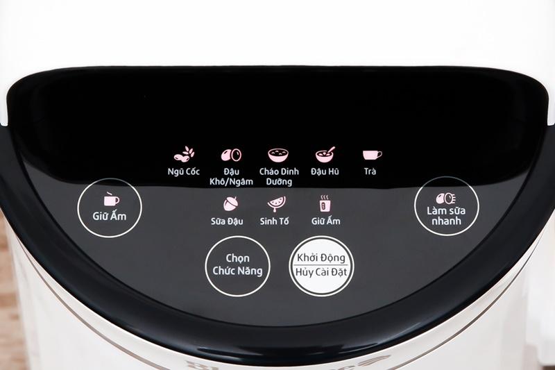 Có bảng điều khiển nút nhấn với chỉ dẫn tiếng Việt dễ hiểu - Máy làm sữa đậu nành Bluestone SMB-7329 1.3 lít