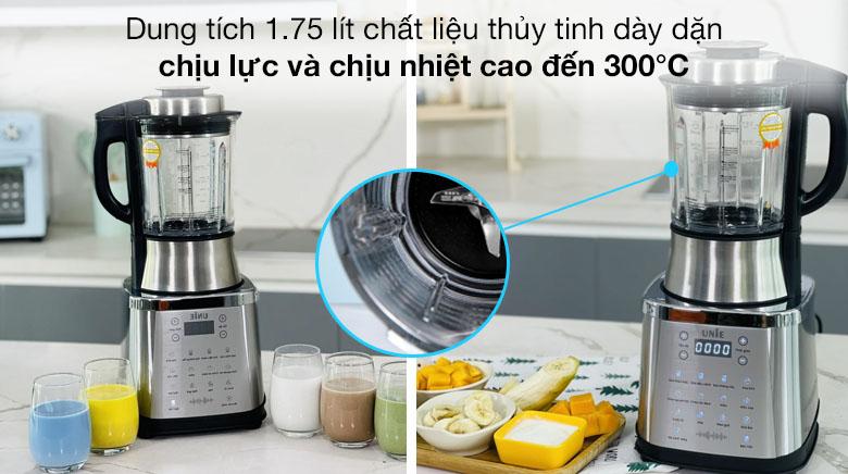 Dung tích 1.75 lít - Máy làm sữa hạt Unie V8S