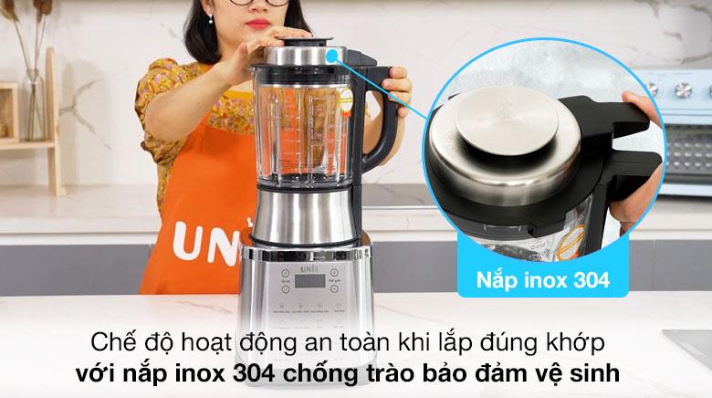Nắp inox 304 chống trào - Máy làm sữa hạt Unie V8S