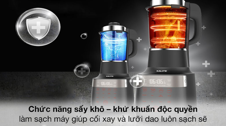 Chức năng sấy khô, khử trùng - Máy làm sữa hạt Kalite KL PRO 900