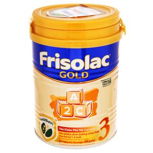 Sữa bột Frisolac Gold 3 lon 400g (lỗi bao bì)