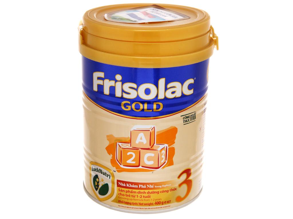 Sữa bột Frisolac Gold 3 lon 400g (1 - 2 tuổi) 2