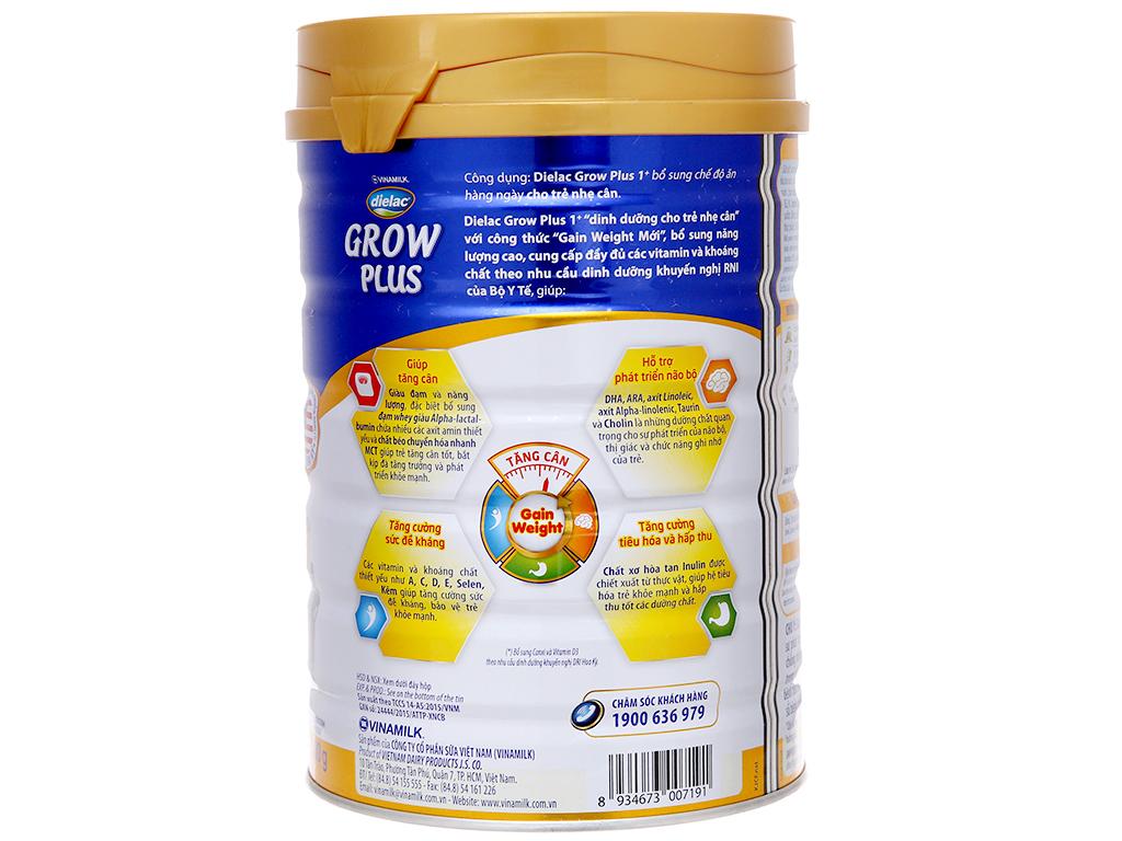 Sữa bột Dielac Grow Plus 1+ Xanh lon 900g (1 - 2 tuổi) 3