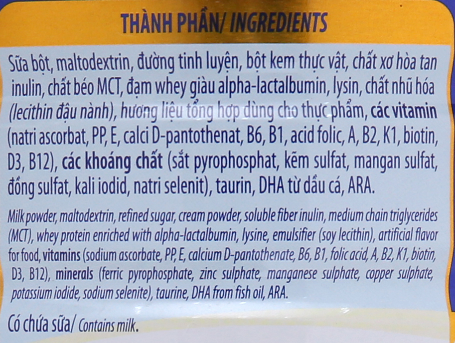 Sữa bột Dielac Grow Plus 2 + Xanh lon 900g (2 - 10 tuổi) 6