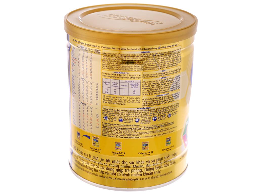 Sữa bột Enfamil A+ 1 lon 400g (0 - 6 tháng) 4