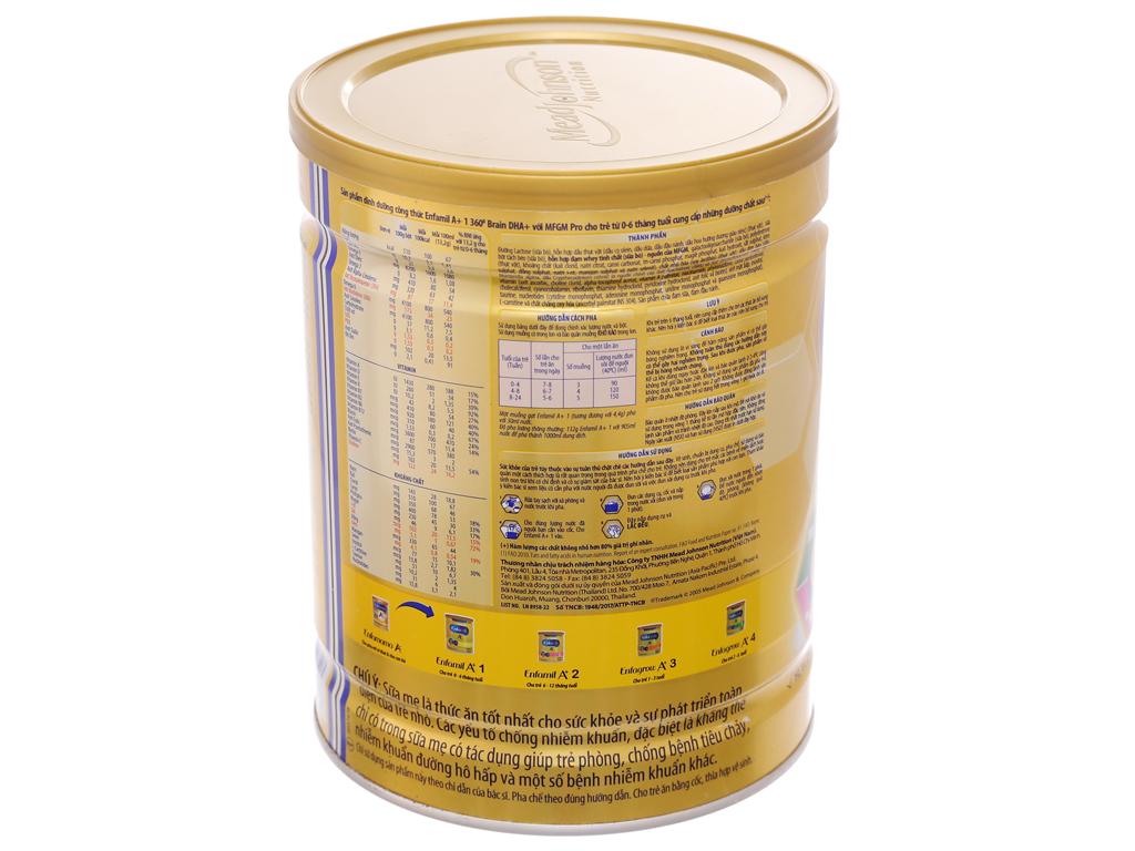 Sữa bột Enfamil A+ 1 lon 900g (0 - 6 tháng) 4