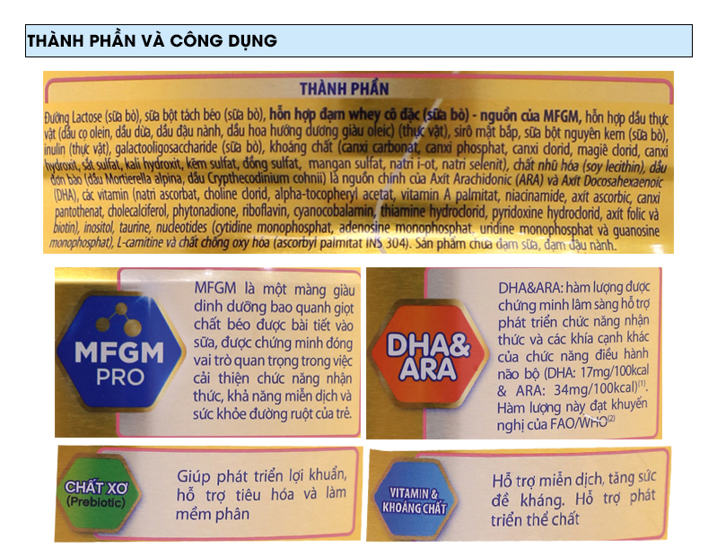 Sữa bột Enfamil A+ 2 lon 900g (6 - 12 tháng) 6