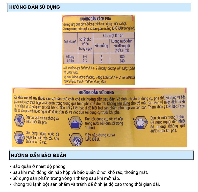 Sữa bột Enfamil A+ 2 lon 900g (6 - 12 tháng) 8
