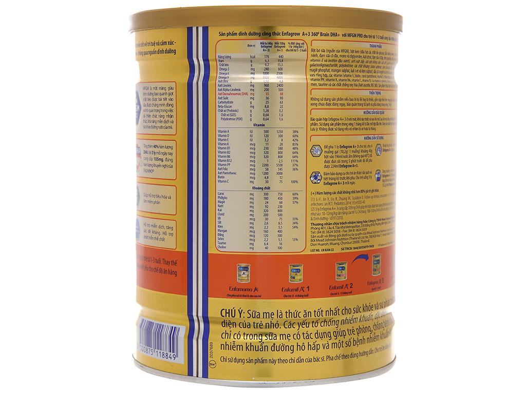 Sữa bột Enfagrow A+ 3 vani lon 900g (1 - 3 tuổi) 4