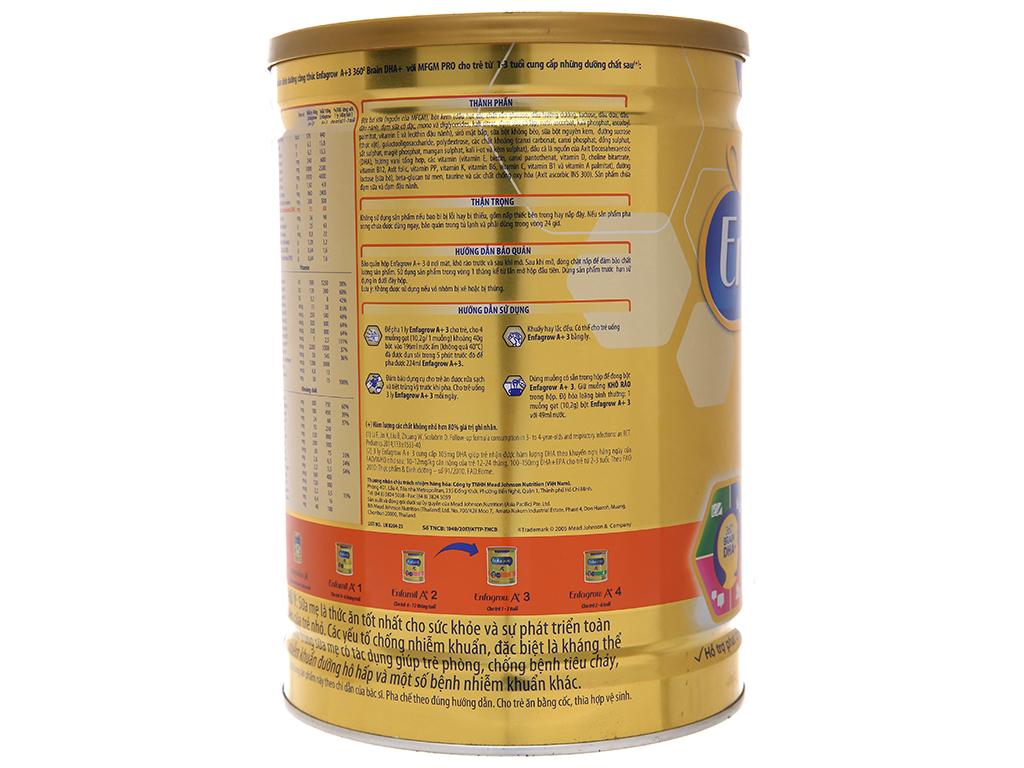 Sữa bột Enfagrow A+ 3 vani lon 1.8kg (1 - 3 tuổi) 4