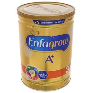 Sữa bột Enfagrow A+ 3 360° Brain DHA+ với MFGM Pro vani lon 1,8kg (1 - 3 tuổi)