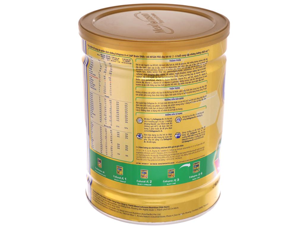 Sữa bột Enfagrow A+ 4 vani lon 900g (2 - 6 tuổi) 4