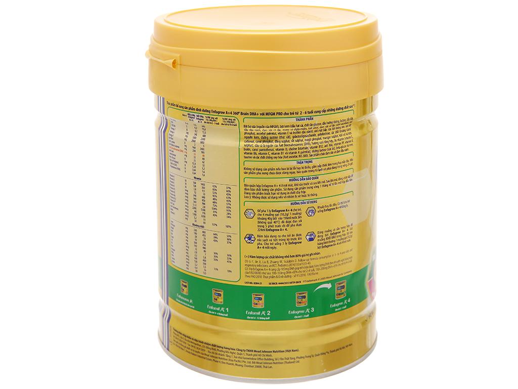 Sữa bột Enfagrow A+ 4 vani lon 870g (2 - 6 tuổi) 10