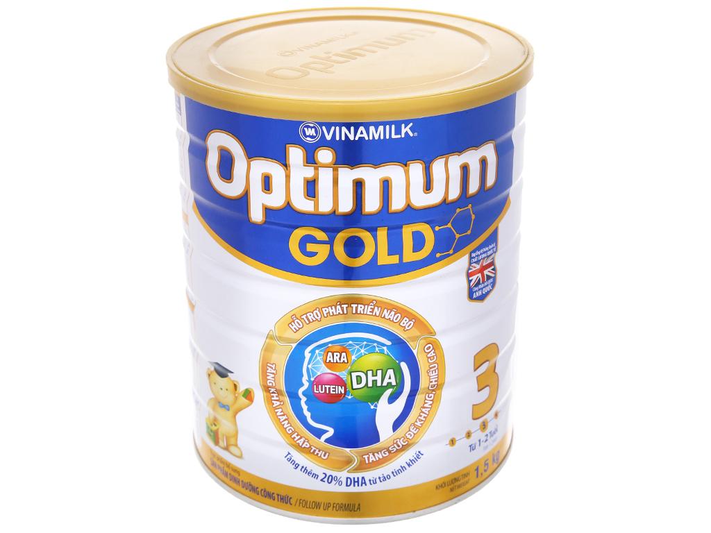 Sữa bột Optimum Gold 3 lon 1,5kg (1 - 2 tuổi) 2
