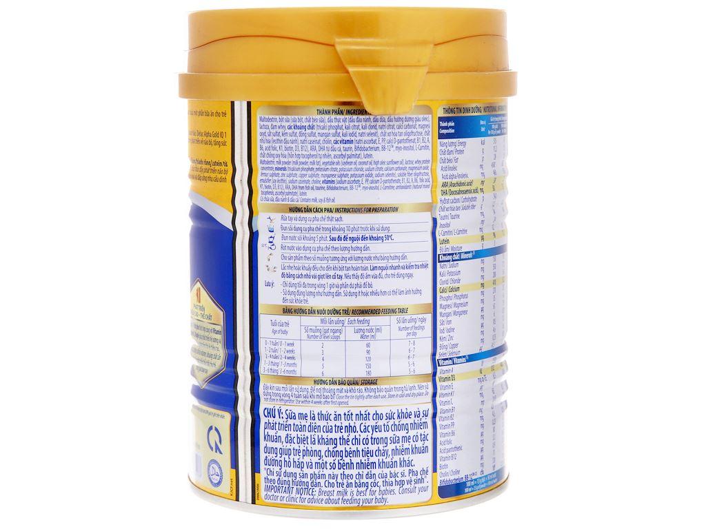 Sữa bột Dielac Alpha Gold IQ 1 lon 400g 4
