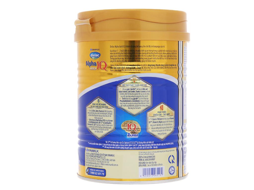 Sữa bột Dielac Alpha Gold IQ 3 lon 400g (1 - 2 tuổi) 3