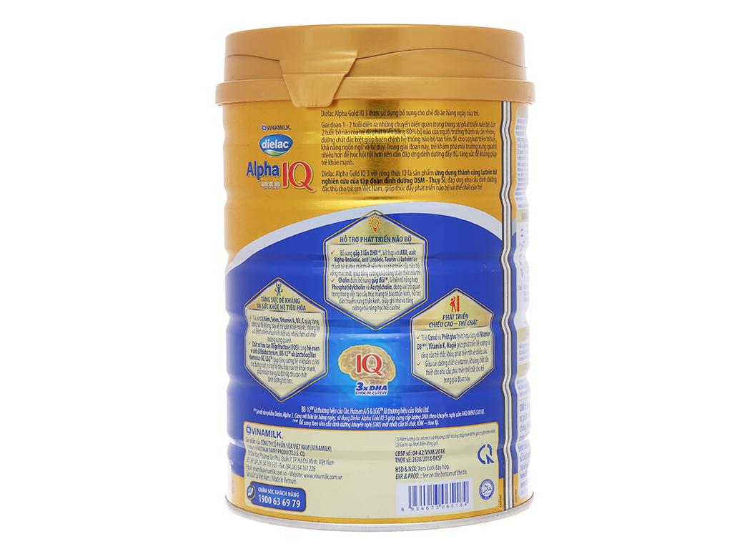 Sữa bột Dielac Alpha Gold IQ 3 lon 900g (1 - 2 tuổi) 3