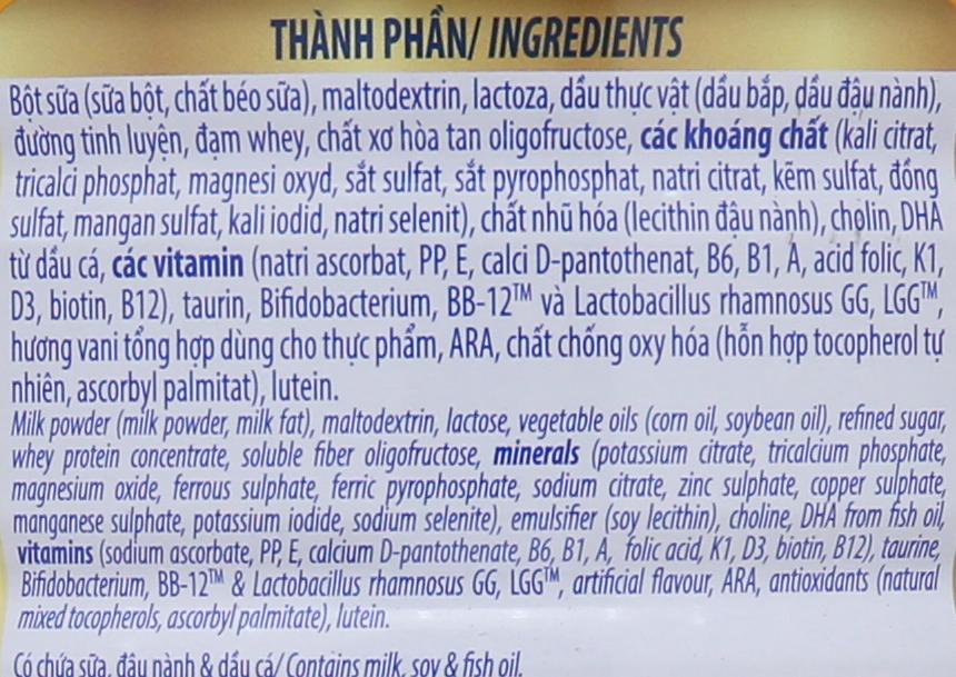 Sữa bột Dielac Alpha Gold IQ 3 lon 900g (1 - 2 tuổi) 6