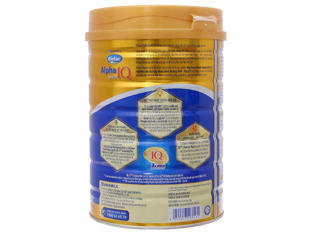 Sữa bột Dielac Alpha Gold IQ 4 lon 900g (2 - 6 tuổi) 2