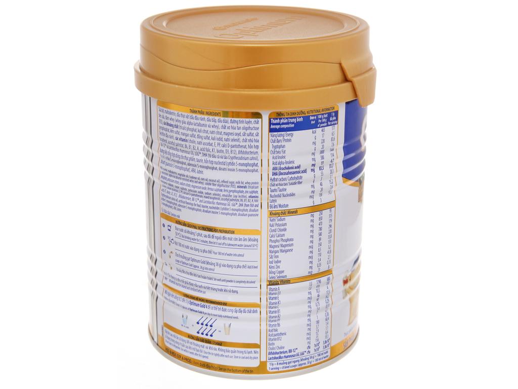 Sữa bột Optimum Gold 4 lon 400g (2 - 6 tuổi) 4