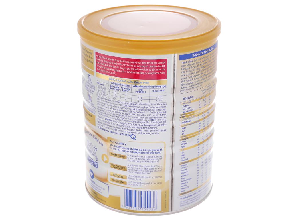 Sữa bột Nestlé Nan Supreme 2 lon 800g (6 tháng - 2 tuổi) 4