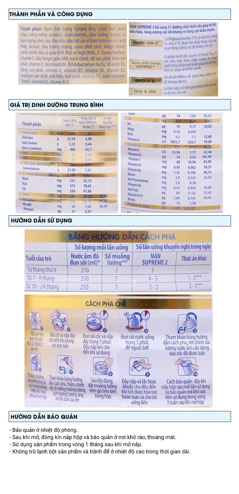 Sữa bột Nestlé Nan Supreme 2 lon 800g (6 tháng - 2 tuổi) 6