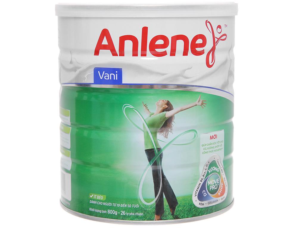 Sữa bột Anlene Movepro vani lon 800g (19 - 50 tuổi) 1