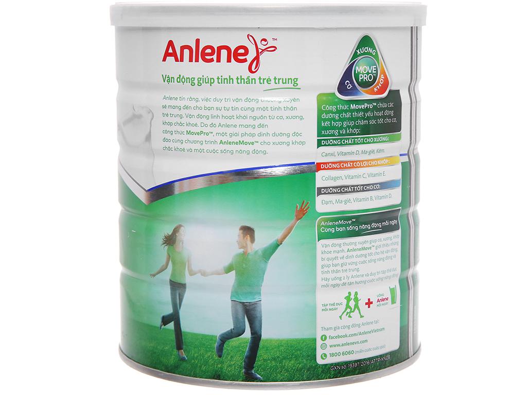 Sữa bột Anlene Movepro vani lon 800g (19 - 50 tuổi) 2
