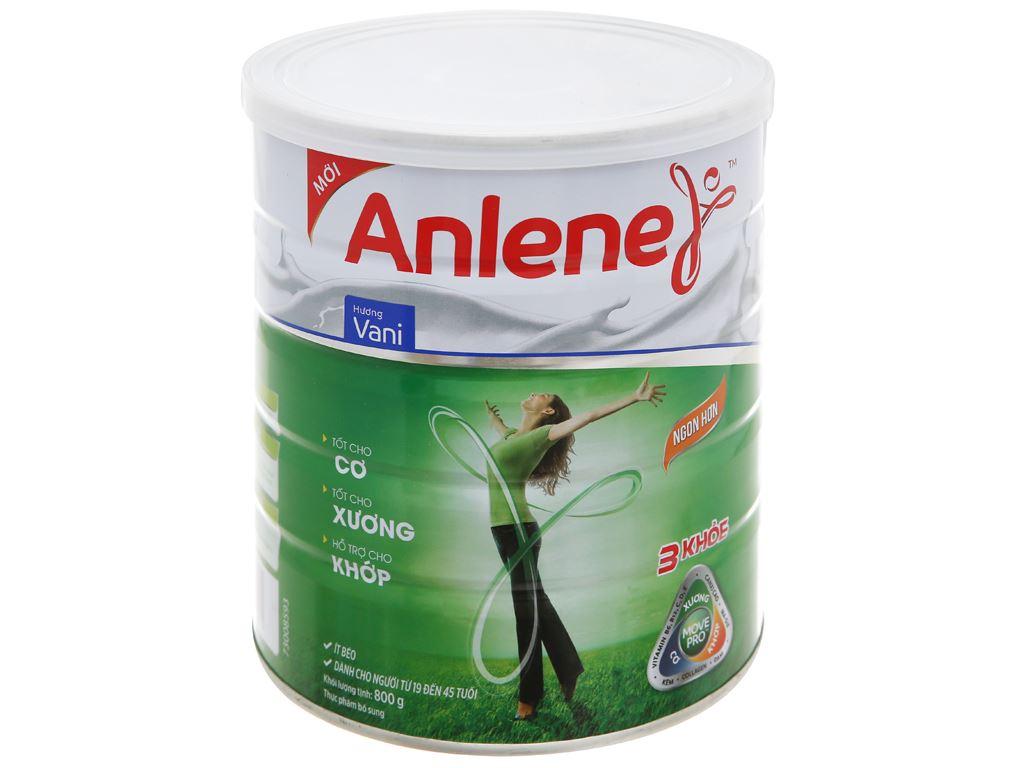 Sữa bột Anlene Movepro vani lon 800g (19 - 45 tuổi) 5