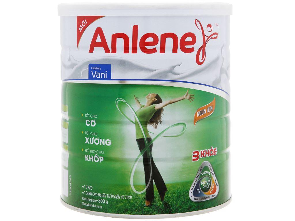 Sữa bột Anlene Movepro vani lon 800g (19 - 45 tuổi) 6
