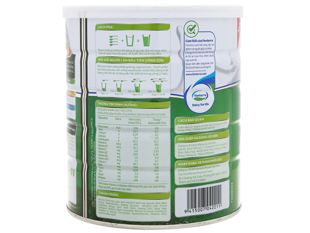 Sữa bột Anlene Movepro vani lon 800g (19 - 45 tuổi) 8